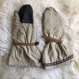 Fleece Lined Adjustable Winter Mittens